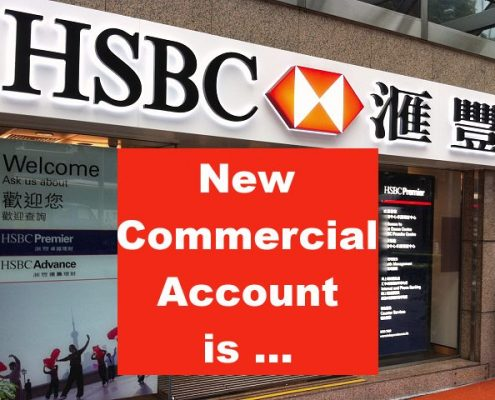 Requirement of new HSBC account for business has been highly tightened since 2015. For now, it is almost impossible for local and overseas small business to apply.