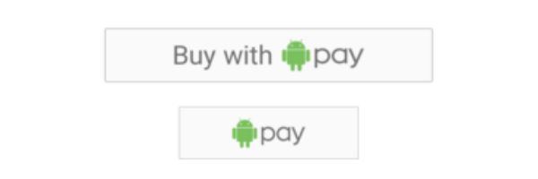 Symbol of Android Pay - online checkout