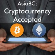 AsiaBC accepts Bitcoin and Ether.