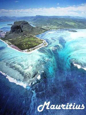 Mauritius (underwater waterfall)